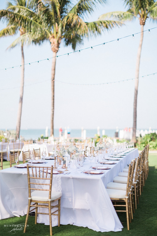 palm trees and christmas lights captiva island reception - beach wedding koozies