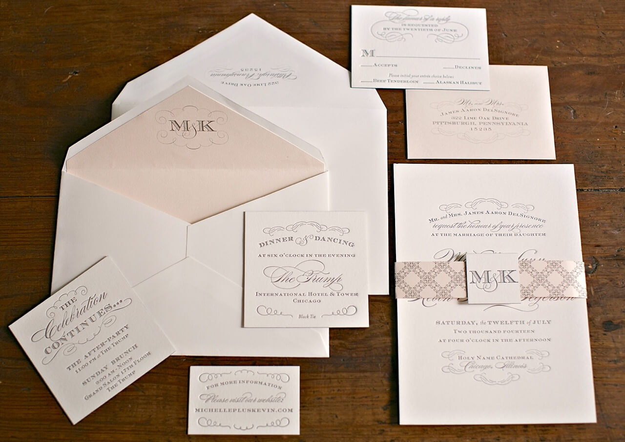 affordable letterpress wedding invitations canada  new wedding, invitation samples