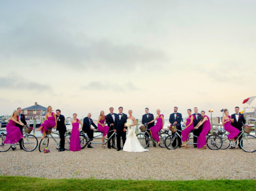 Chic Fuschia Nantucket Wedding