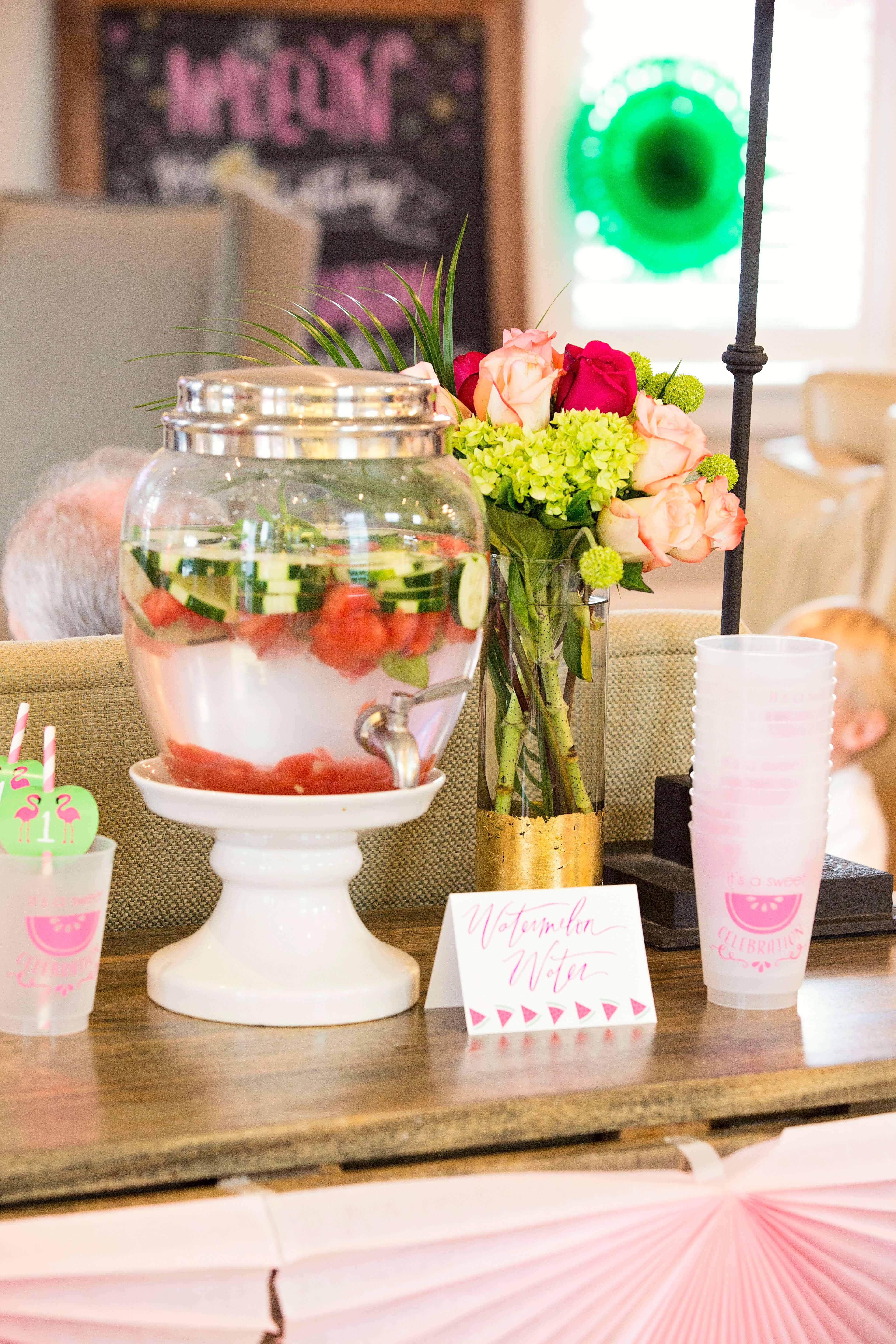 Baby flamingo car interior design - Madelyn S Party Shoes Even Matched Her Party Theme We Absolutely Love How This Preppy Flamingo Watermelon Birthday Turned Out