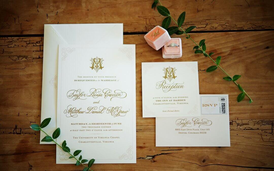 Virginia Southern Monogram Wedding