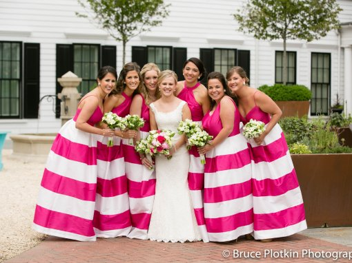 Hot Pink and Navy Golf Inspired Wedding