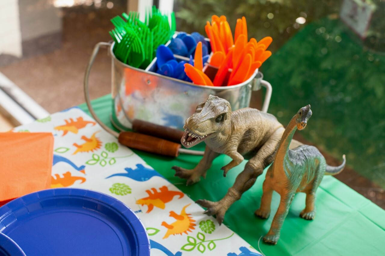 Beach Pail Party Favors Saying Thank You For Coming: Dino-mite Dinosaur Themed Birthday ⋆ Nico & Lala