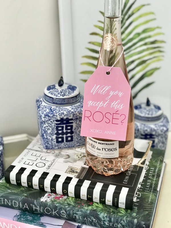 will you accept this rosé wine gift tag