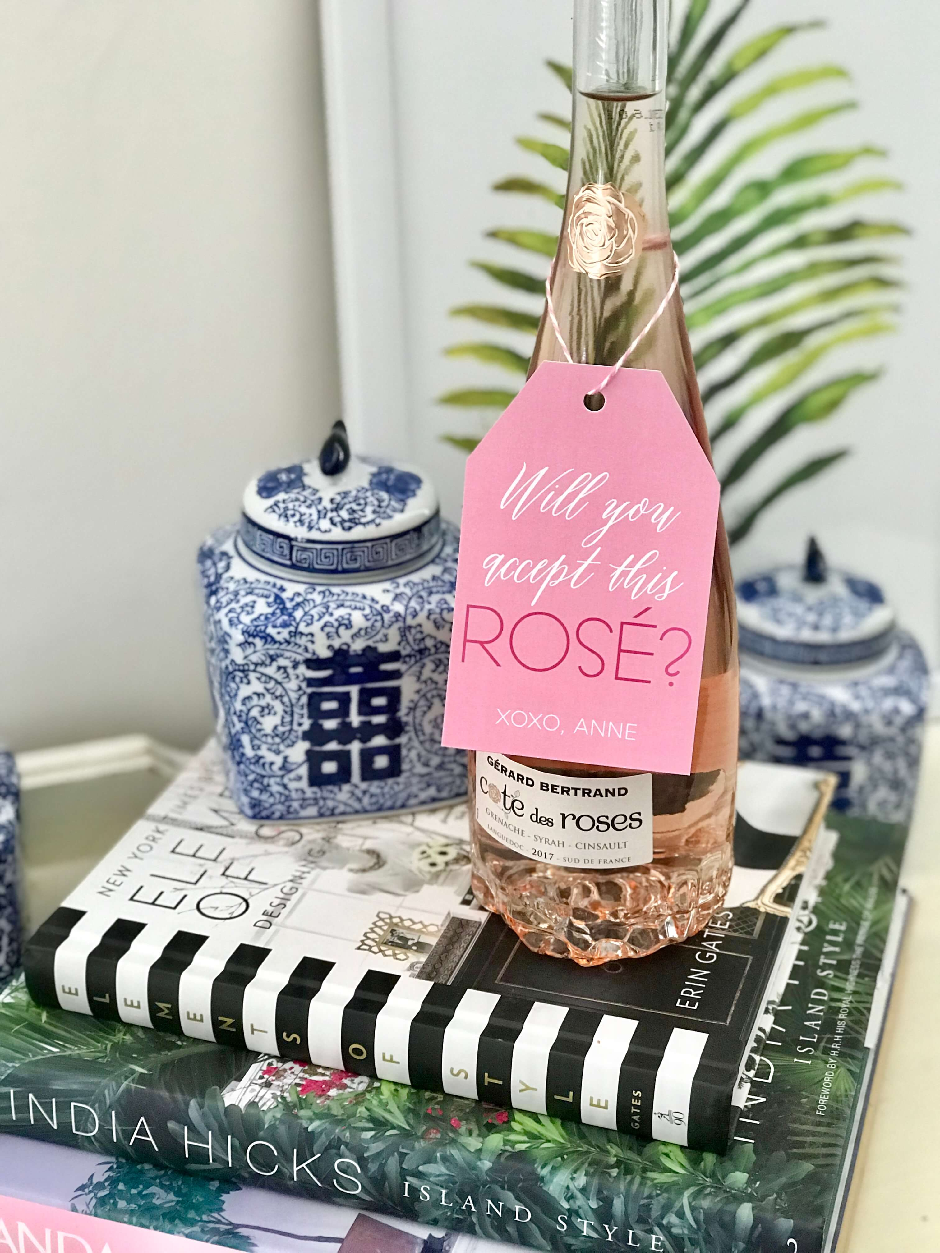 Rosé Wine Gift Tags ⋆ Nico and Lala