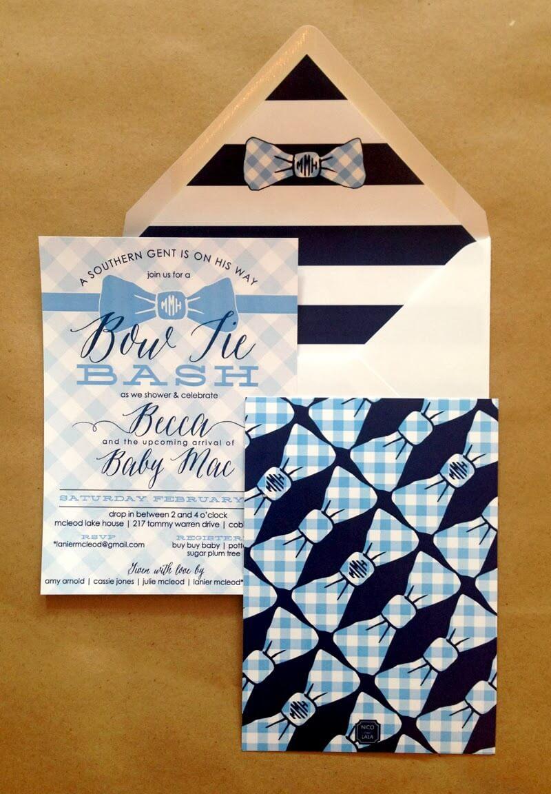 bow tie baby shower  u22c6 nico and lala