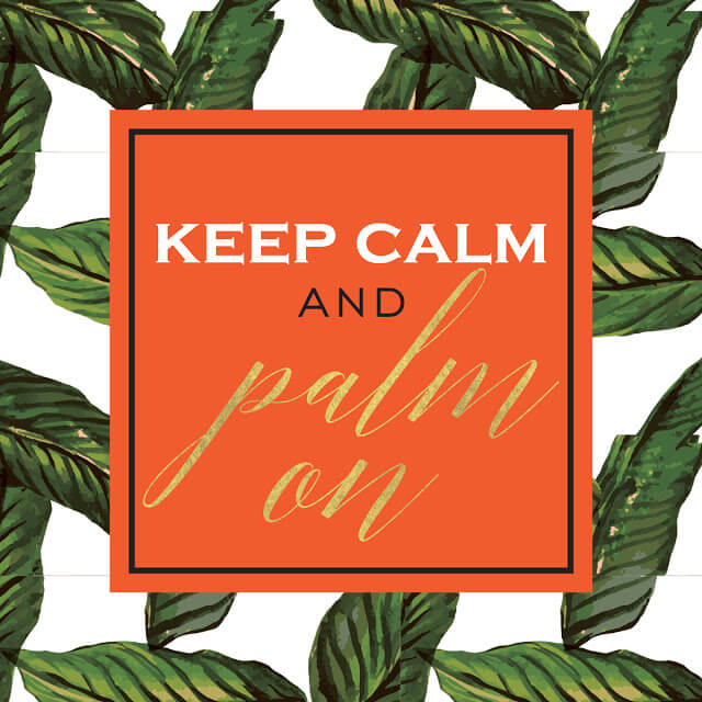 Print of the Summer: Palm Leaf Print!