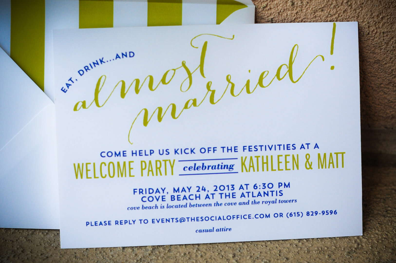 After The Wedding Party Invitations: One And Only Bahamas Wedding ⋆ Nico And Lala