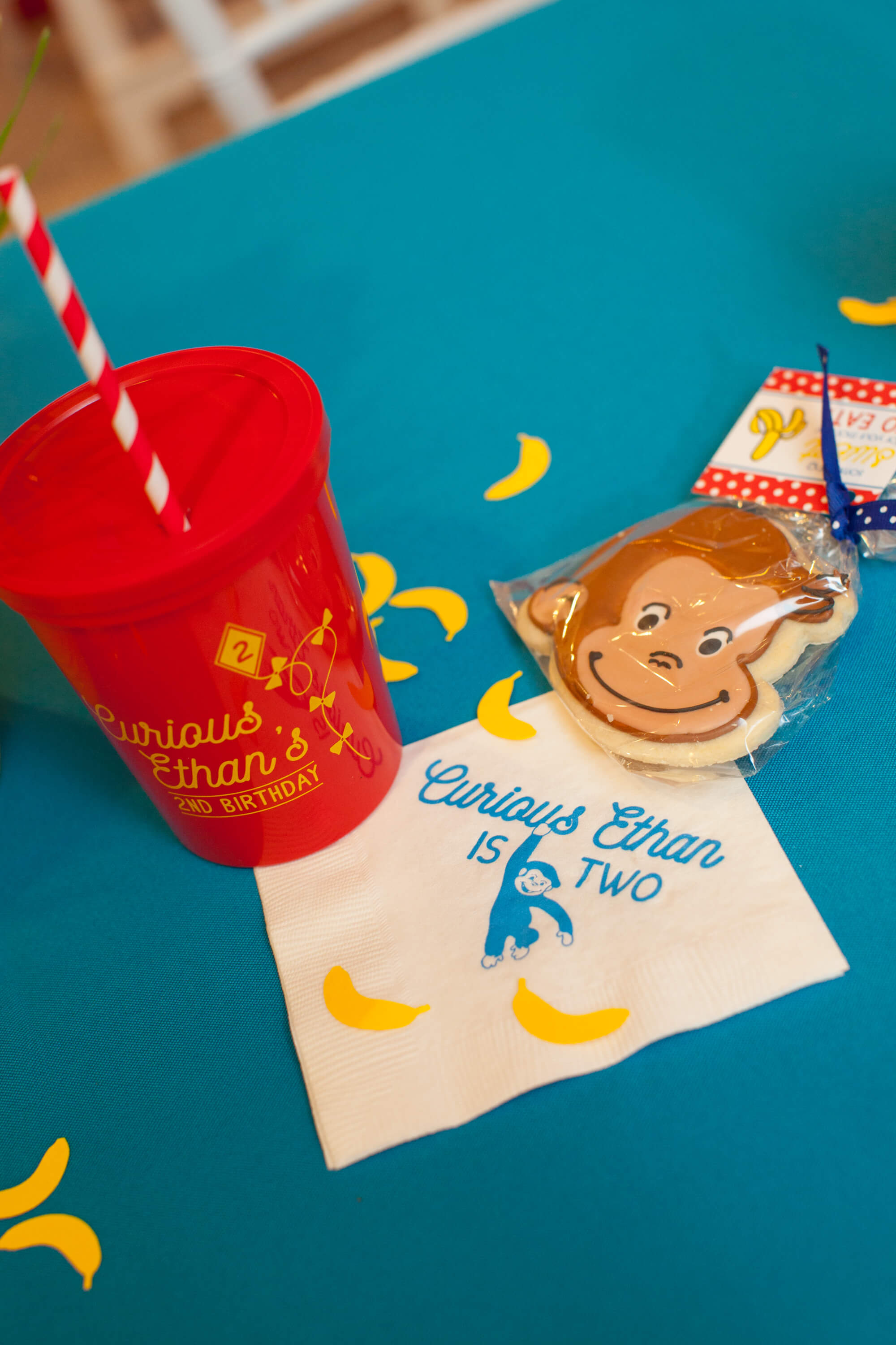 Curious George Birthday Invitation Turned Out So Cute And How Great That We Can Do Lids On The Custom Stadium Cups This Is Always A Perk For 2