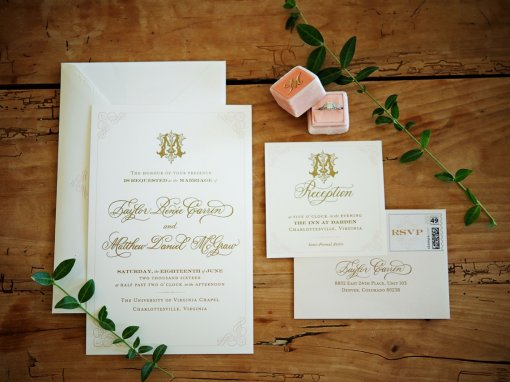 Blush and Gold Virginia Wedding
