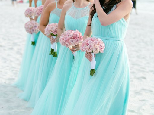 Turquoise and Coral Naples Wedding