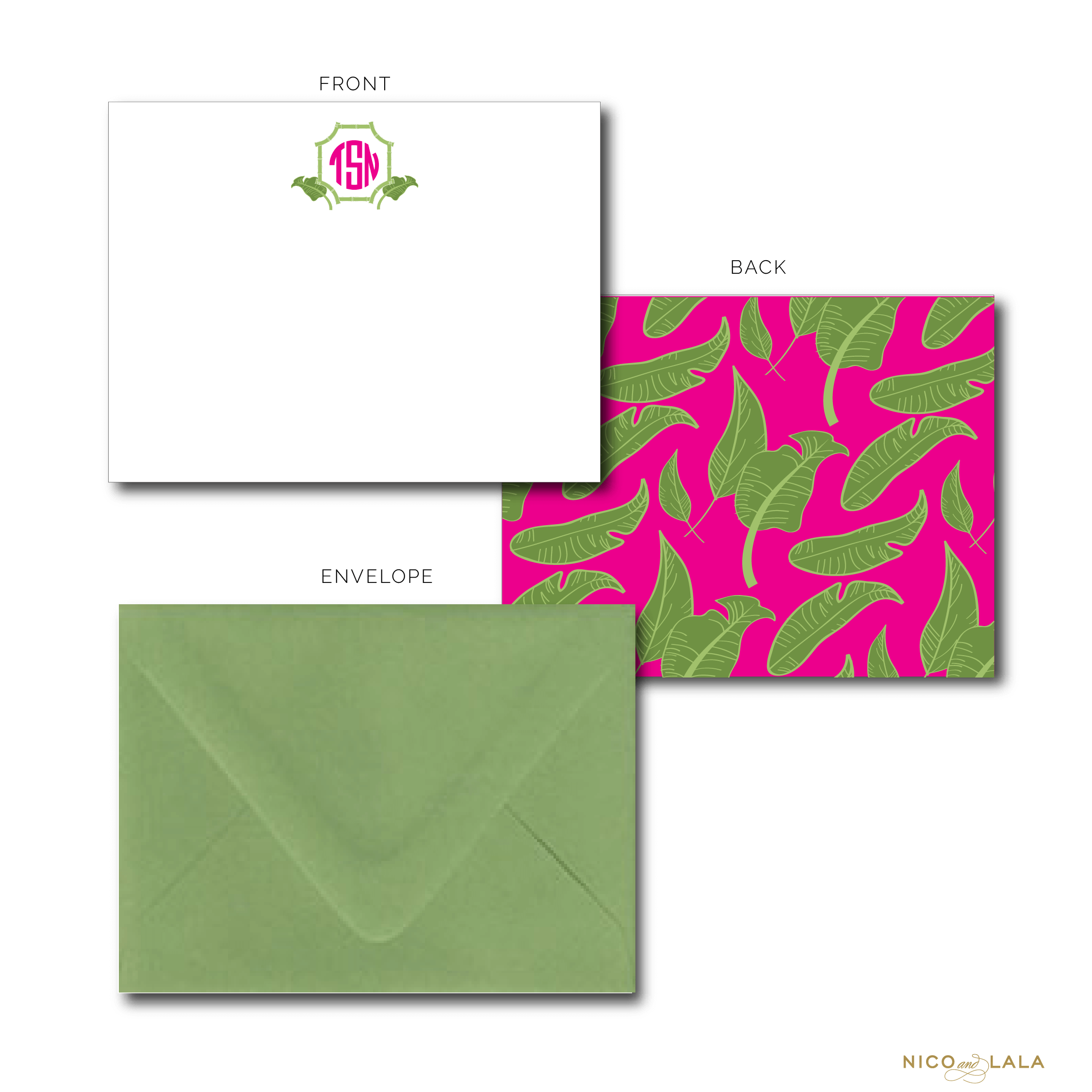 Palm Leaf Stationery