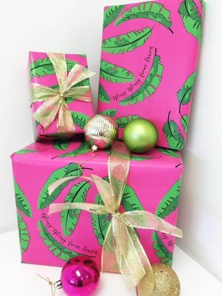 palm leaf gift wrap
