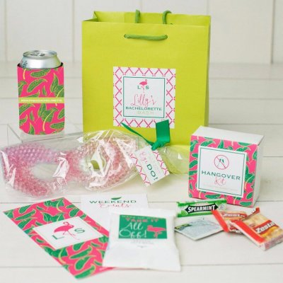 Palm leaf bachelorette bags