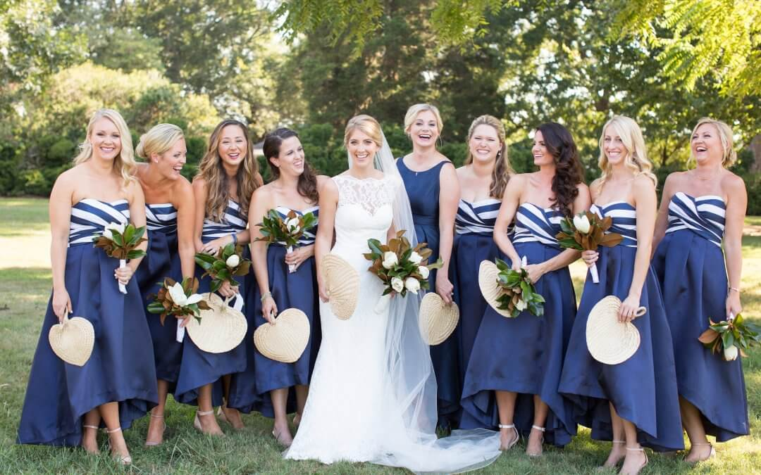 Navy and White Plantation Wedding