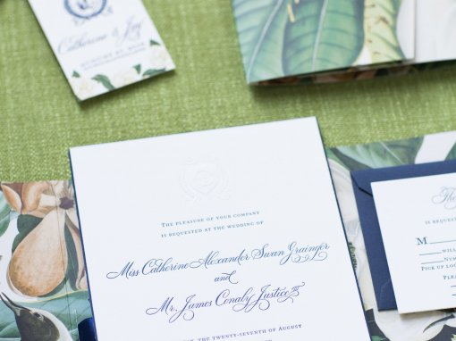Navy and White Southern Plantation Wedding