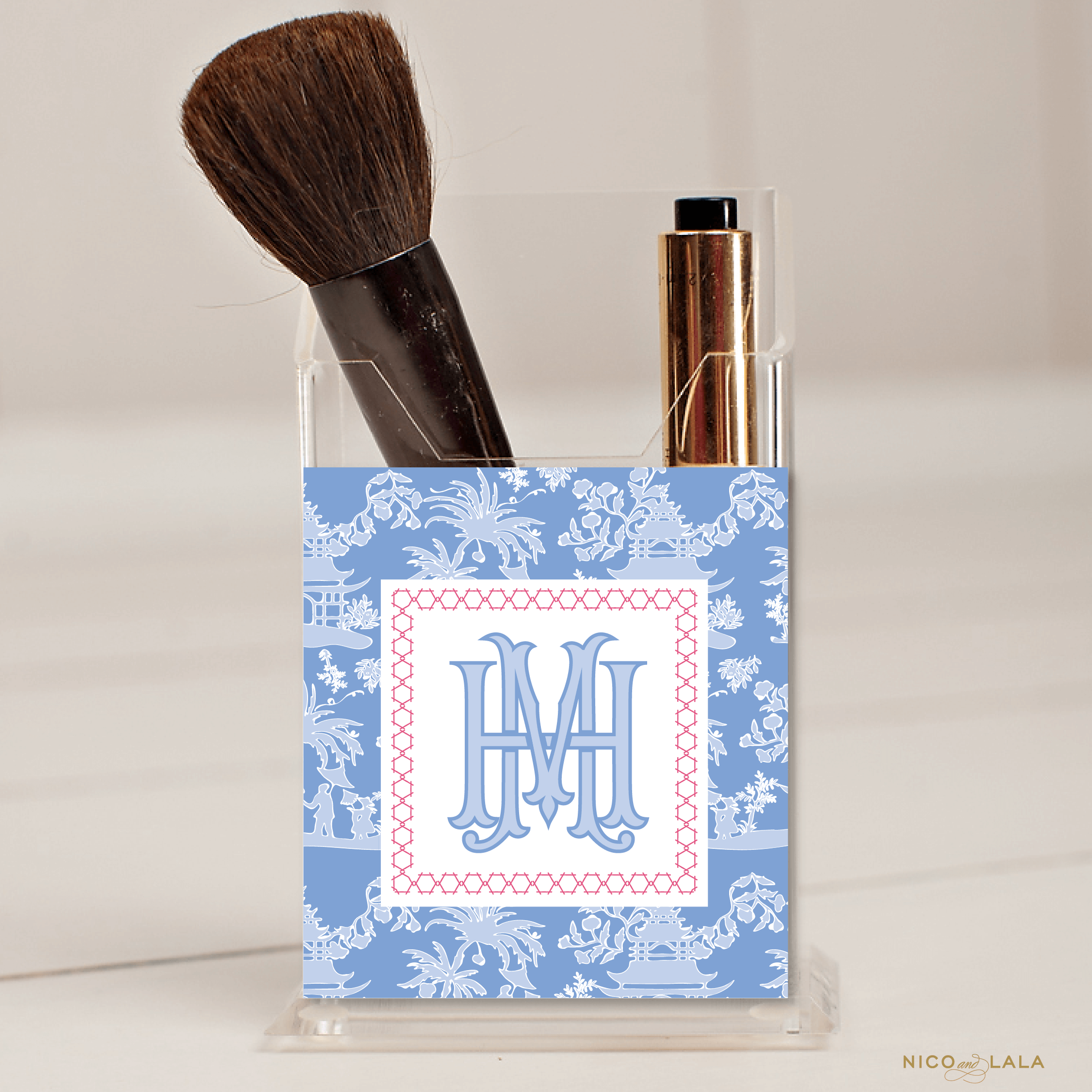 Chinoiserie Pencil Holder Azure