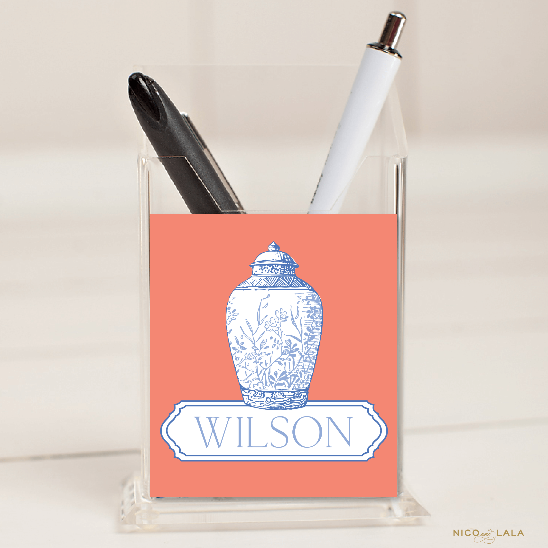 Ginger Jar Pencil Holder