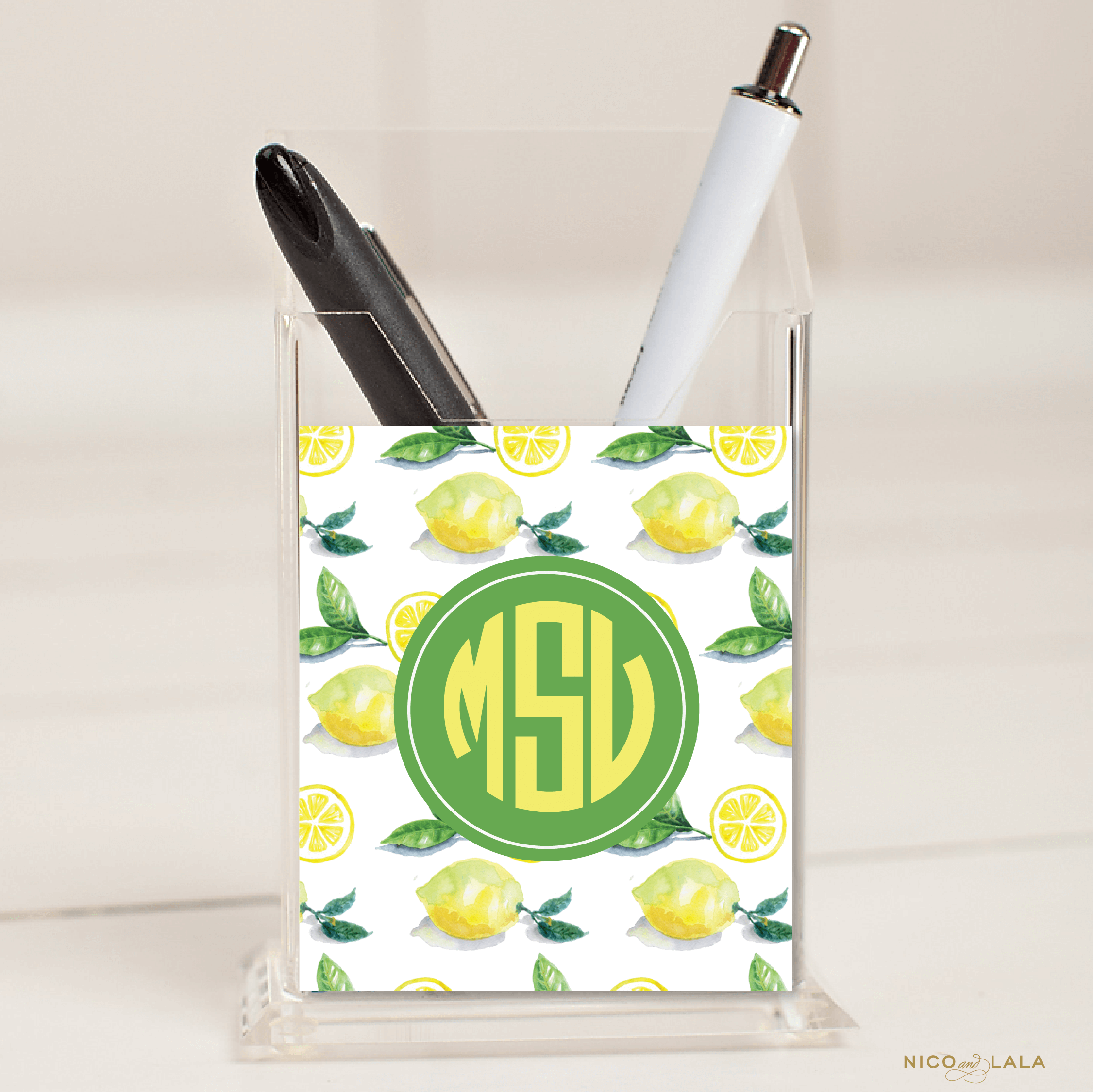 Lemon Pencil Holder