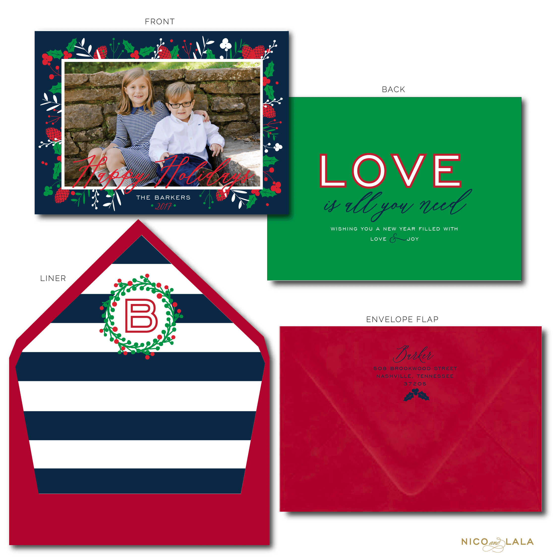 Love Is All you need Christmas Card Multi