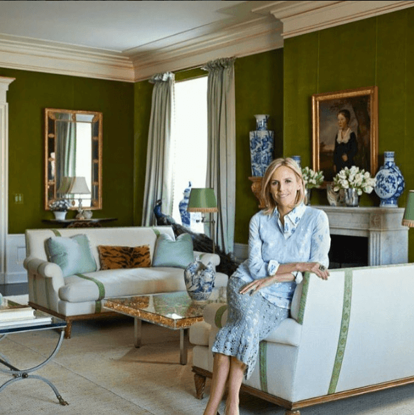 tory burch living room
