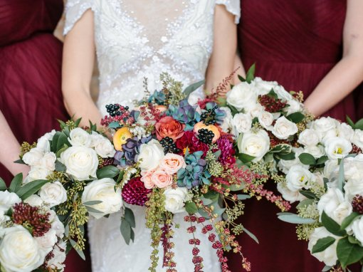 Burgundy Botanic Fall Wedding