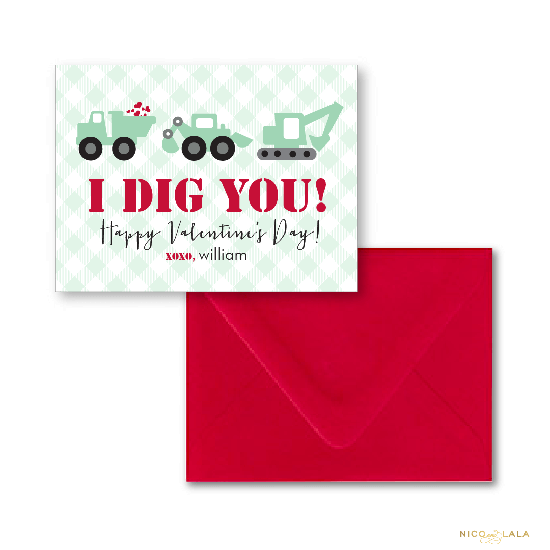 Dig You Valentines Day cards