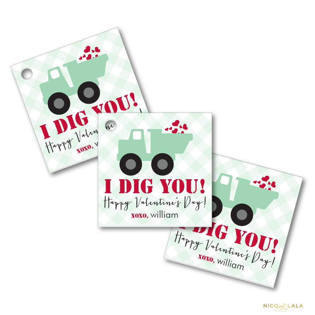 Dig You Valentines Day Tags