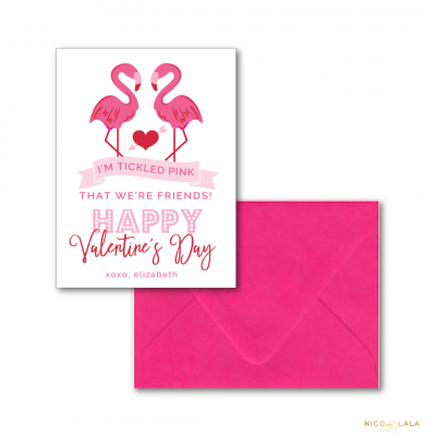 flamingo valentines day cards