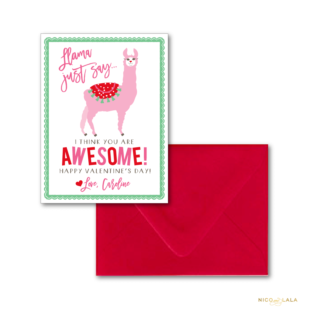 Flamingo Valentine\'s Day Cards ⋆ Nico and Lala