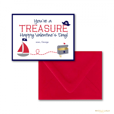 pirate valentines day cards