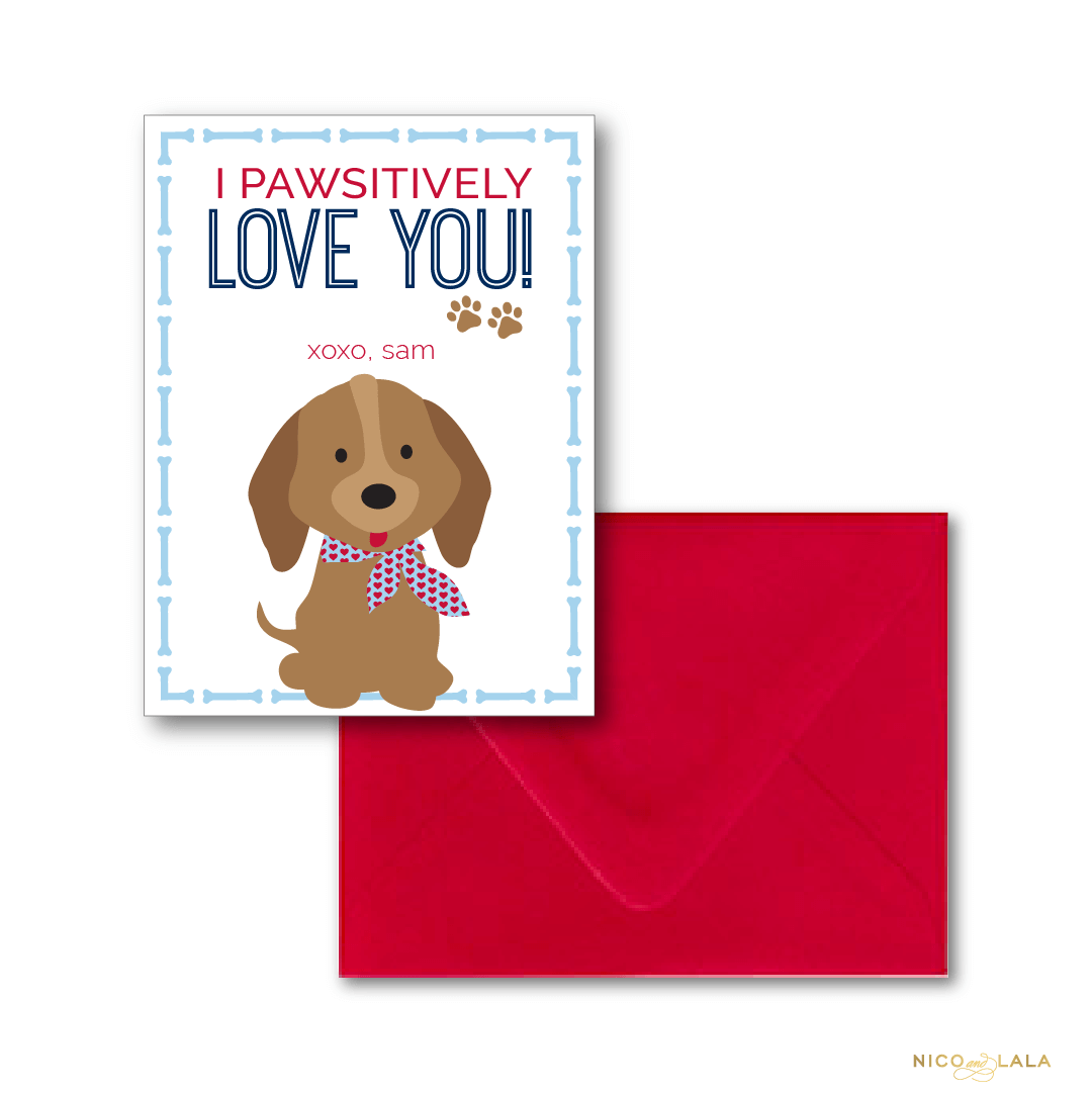 puppy valentines day cards - Dog Valentines Day Cards