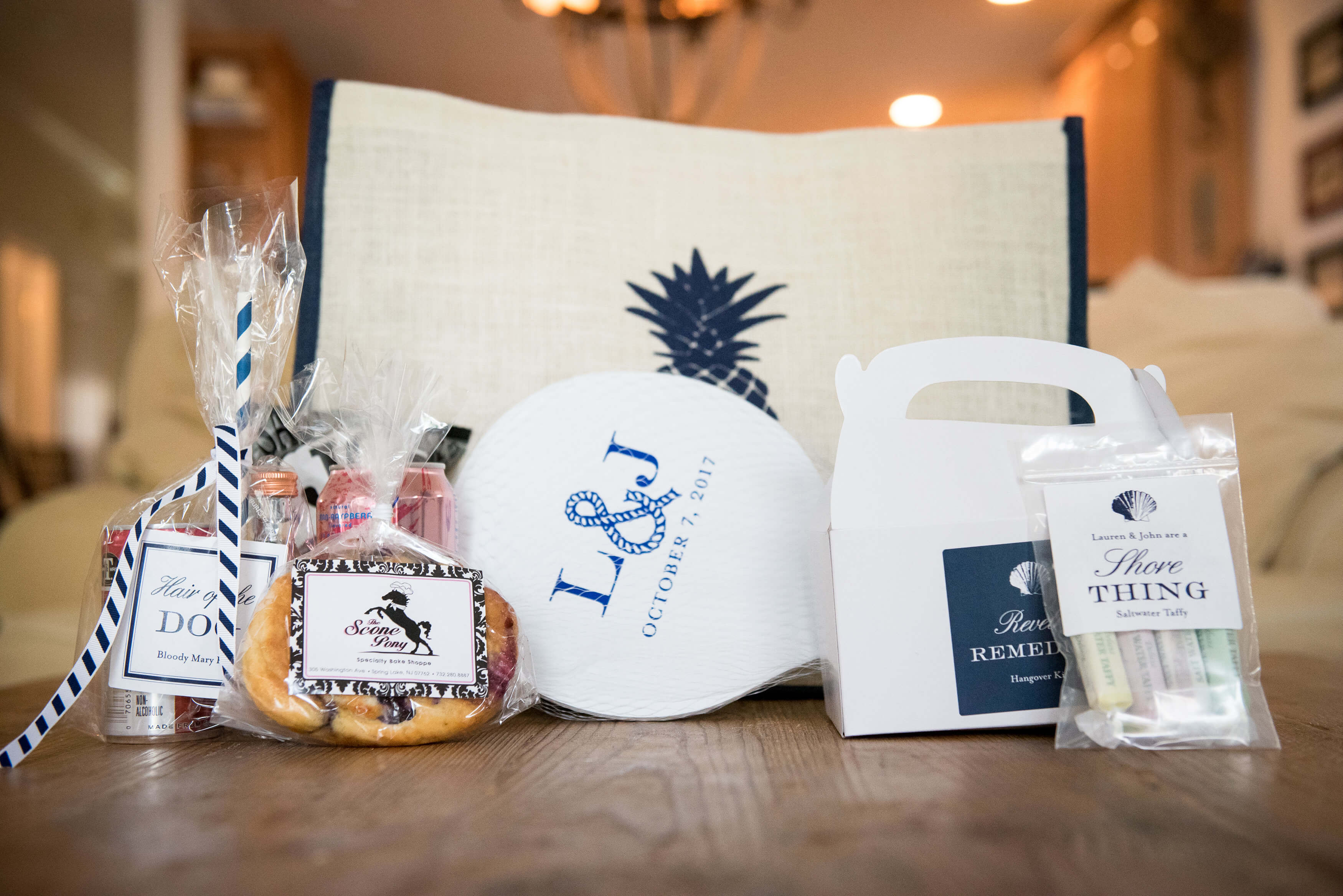 beach wedding welcome bag