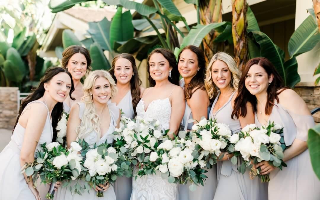 Garden Inspired Oceanfront Wedding