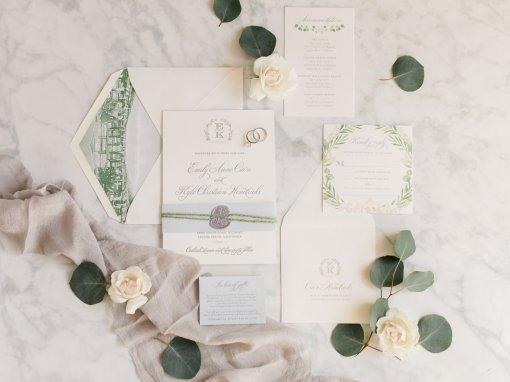 Greenery Inspired Beachside Wedding