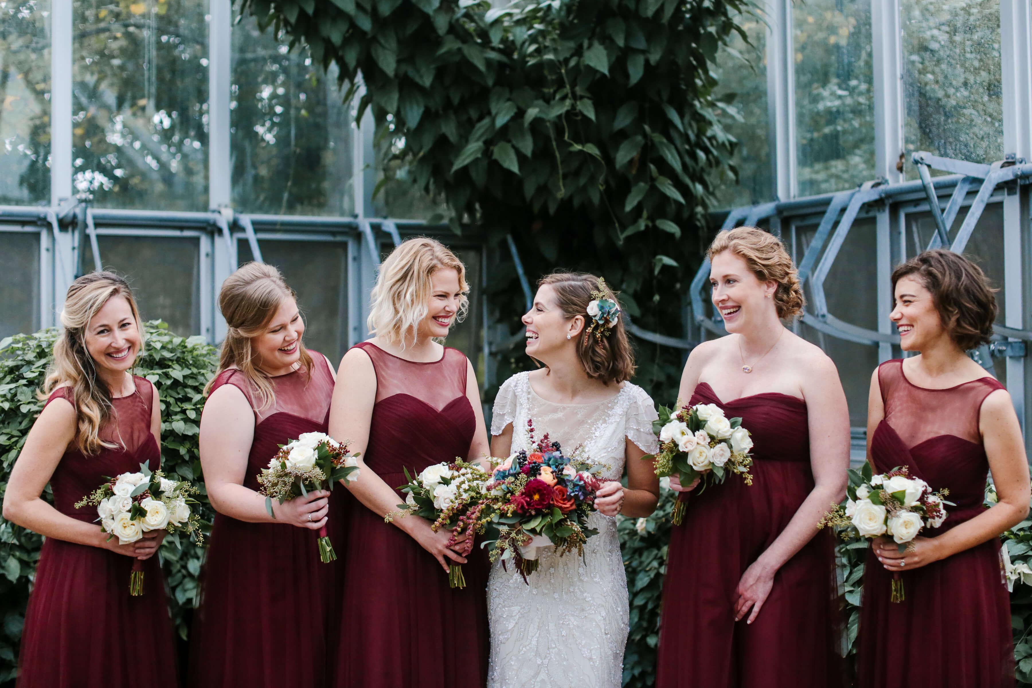 Jewel tone fall wedding nico and lala fall bridesmaid dresses long burgundy ombrellifo Images