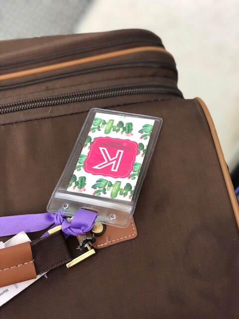 Bachelorette party luggage tag