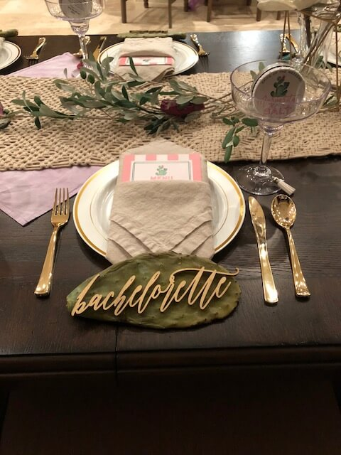 Bachelorette party table