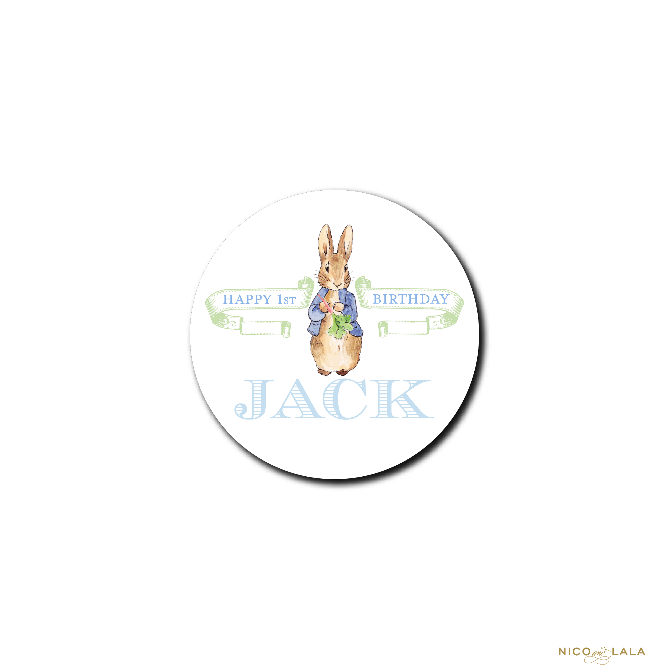 boy peter rabbit stickers