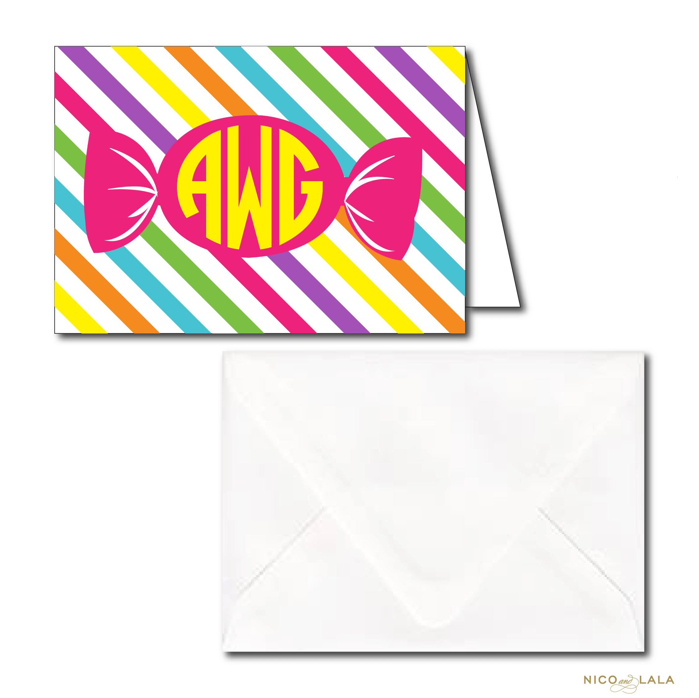Candy Land Birthday Stationery