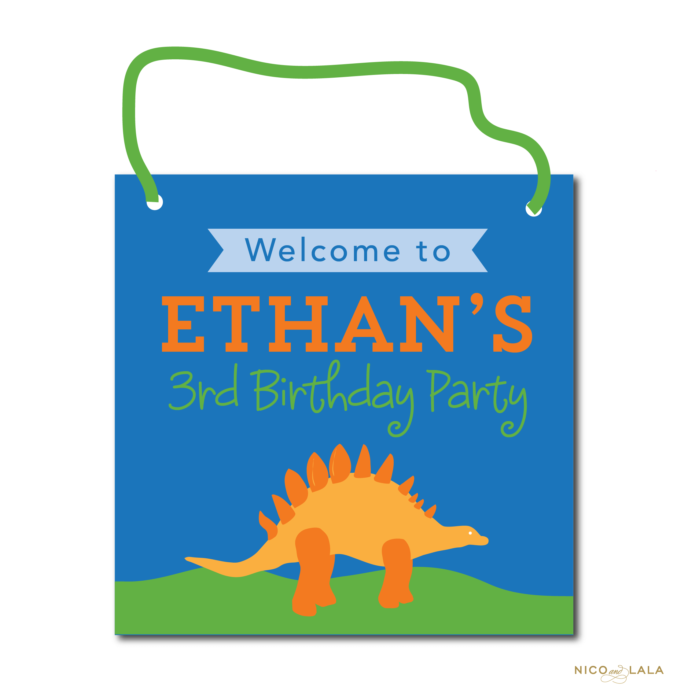 Dinosaur Birthday sign