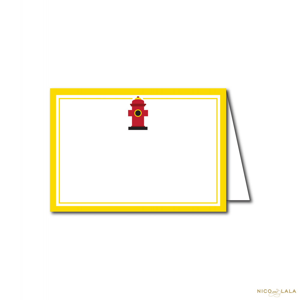 fire truck birthday food cards