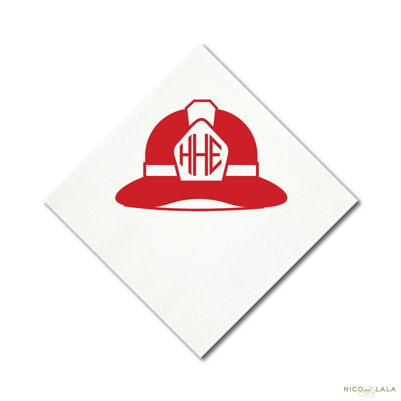 fire truck birthday napkins