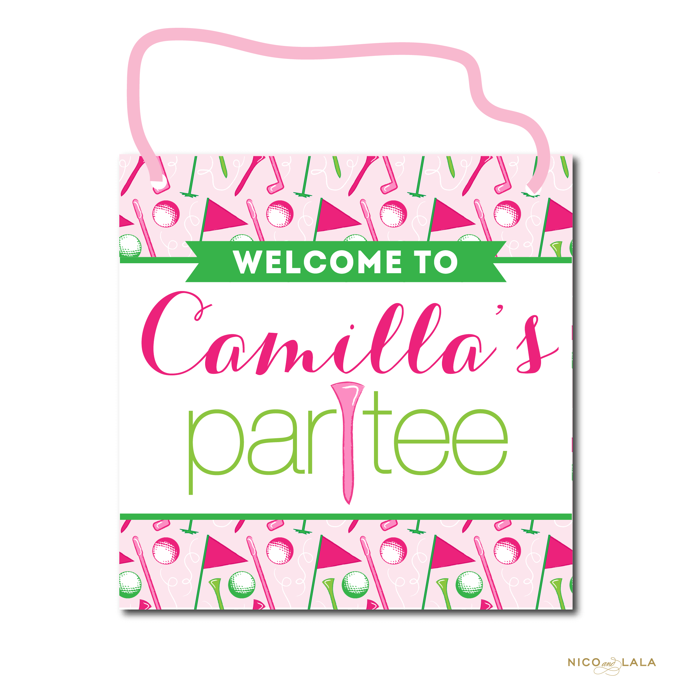 girly golf door sign