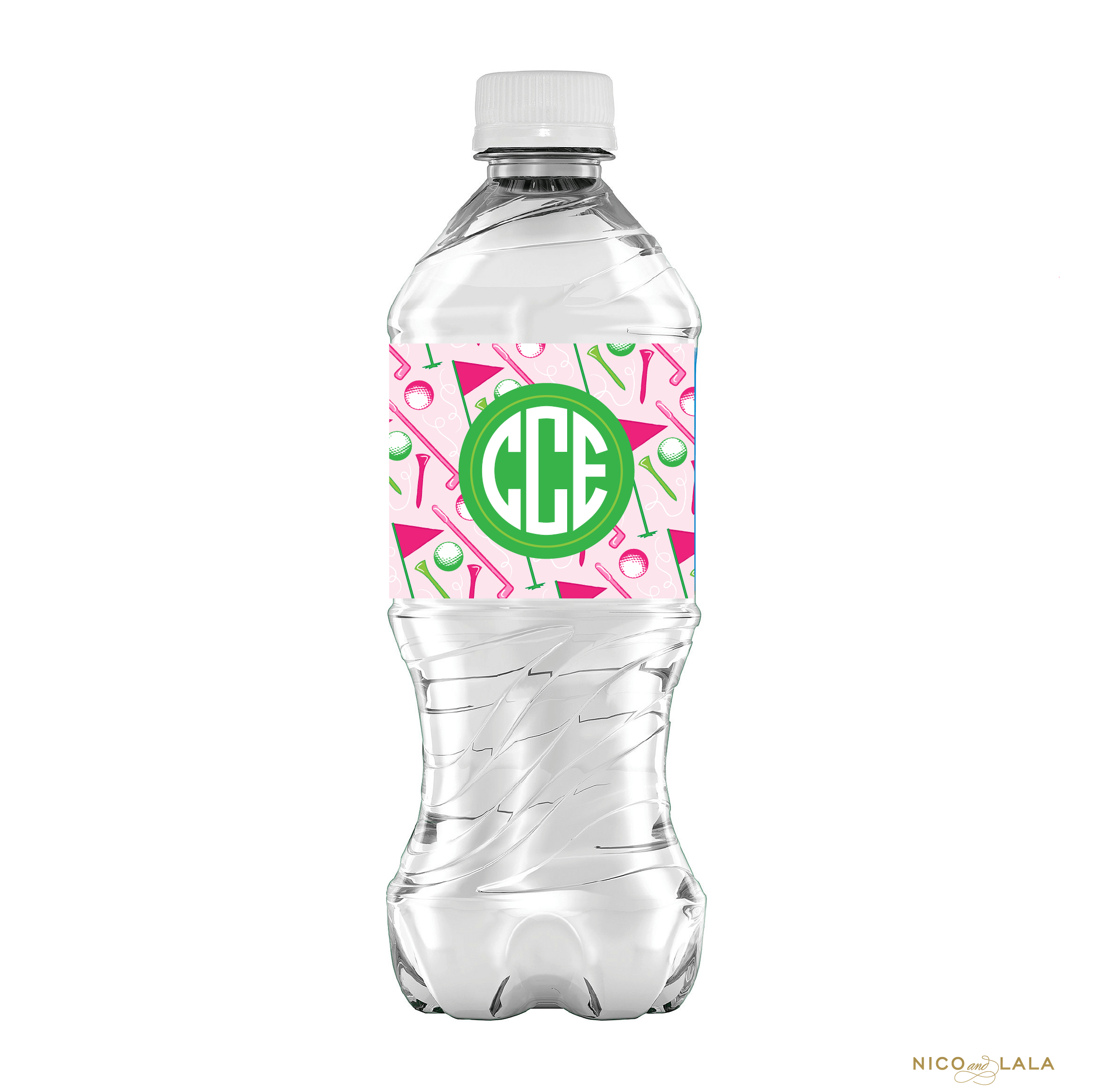 Girly Golf Water Bottle Labels