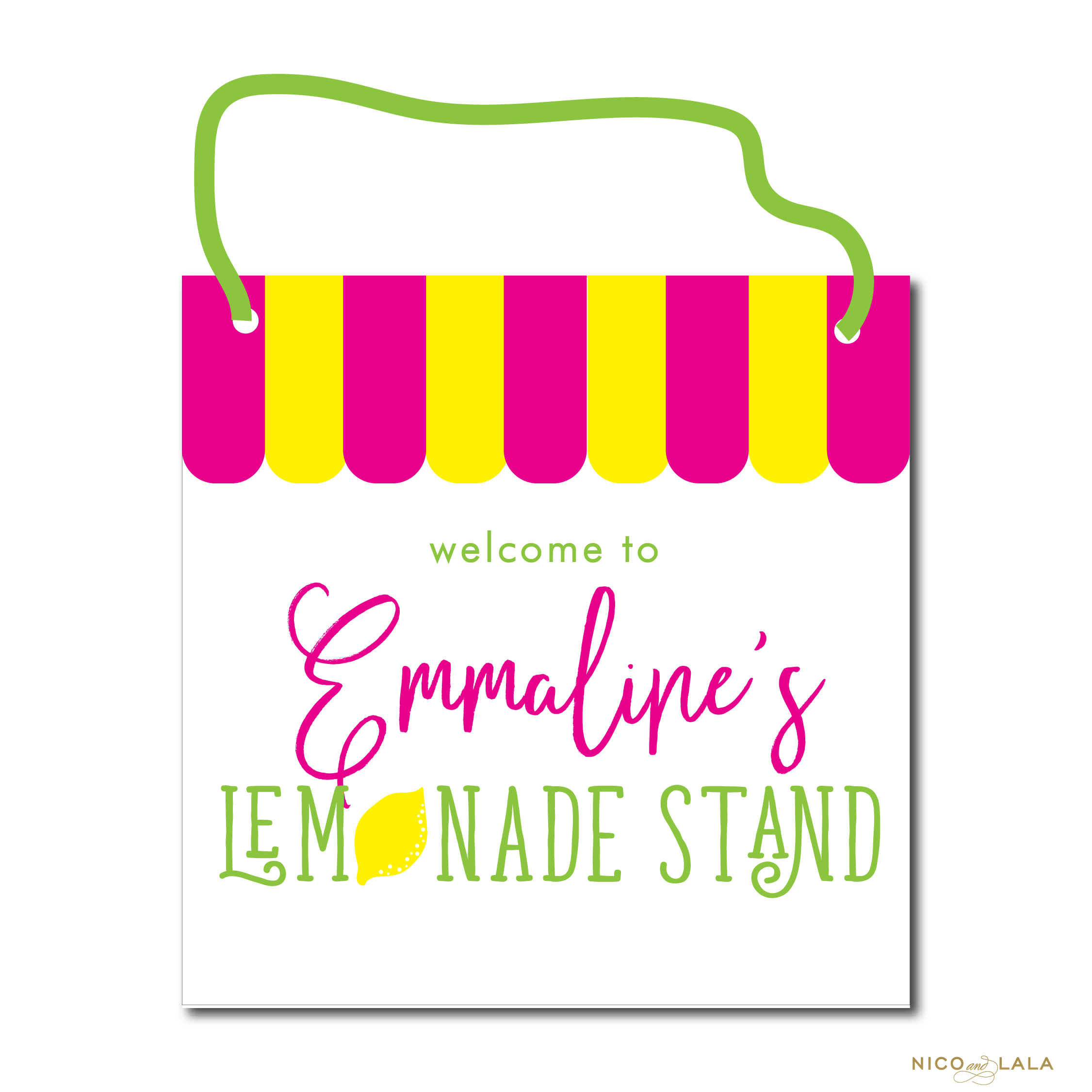 lemonade birthday door sign