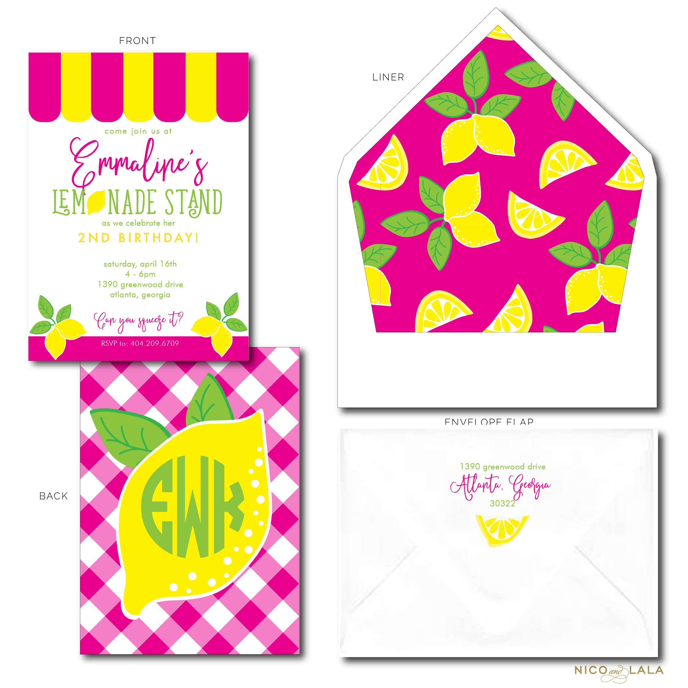 lemonade birthday invites
