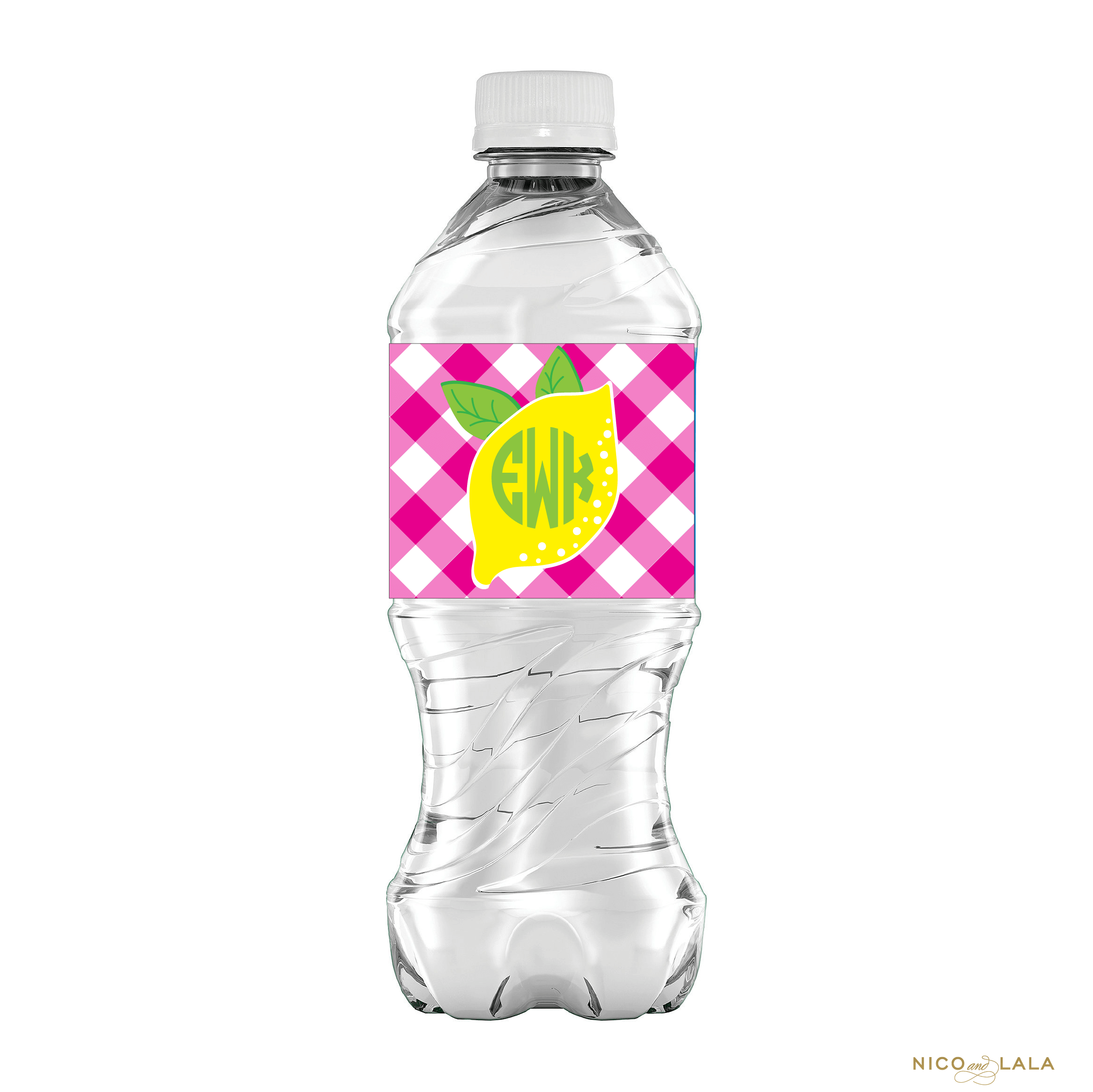 lemonade water bottle labels