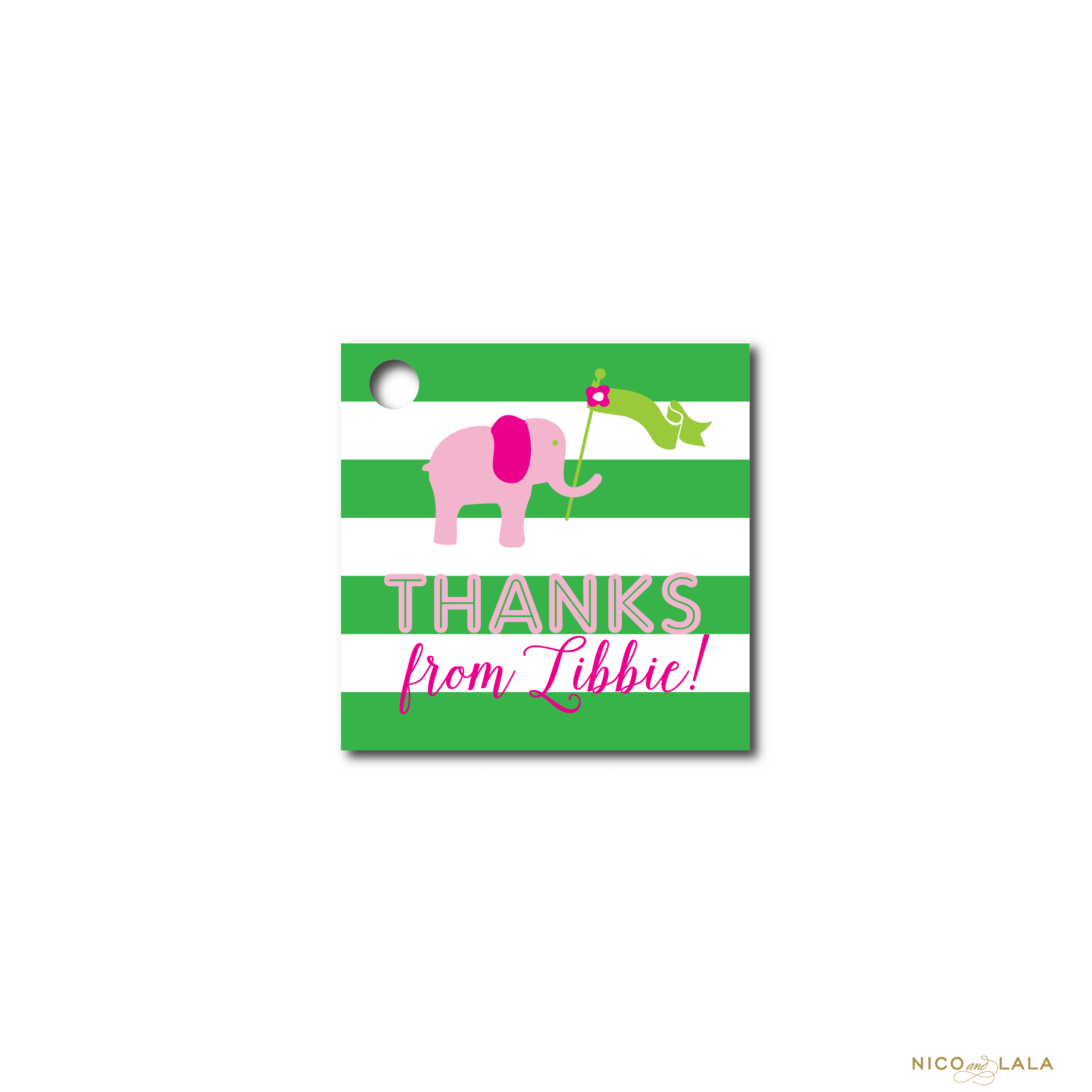 Lilly Pulitzer themed Birthday favor tags