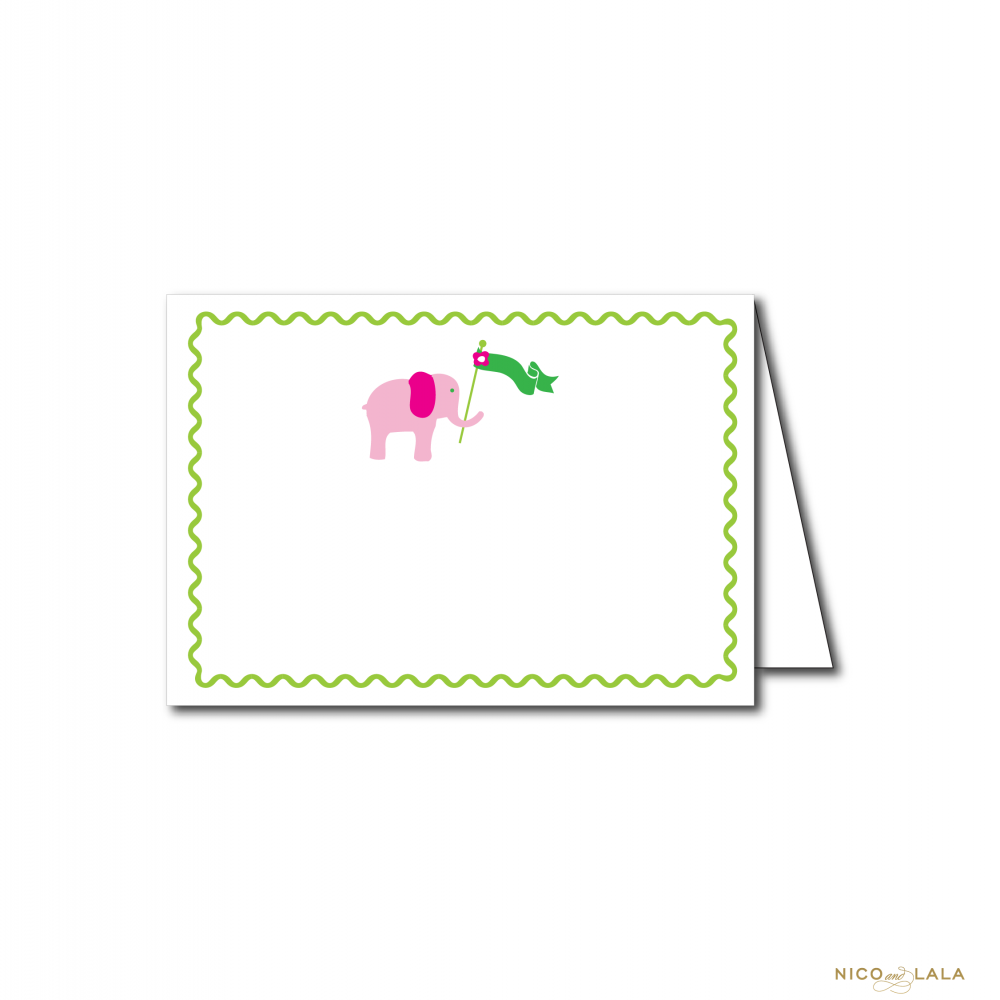 Lilly Pulitzer themed food cards
